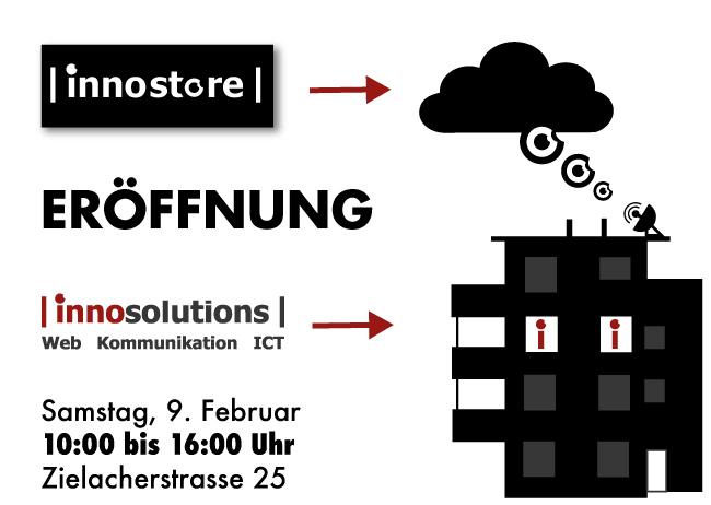 Feiern Sie mit uns: Am 9. Februar eröffnen wir unsere neuen Büros und launchen den innostore.ch!