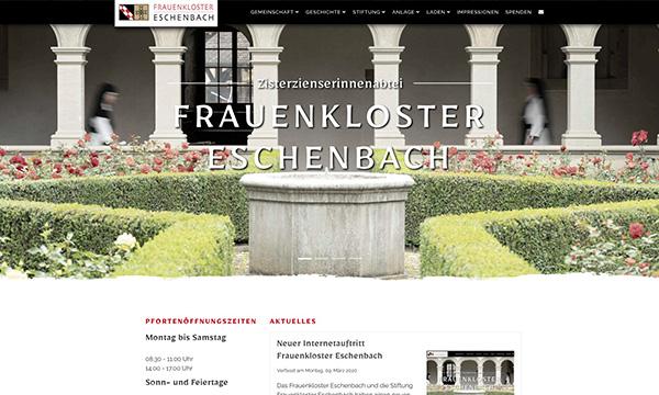 Internetauftritt Kloster Eschenbach