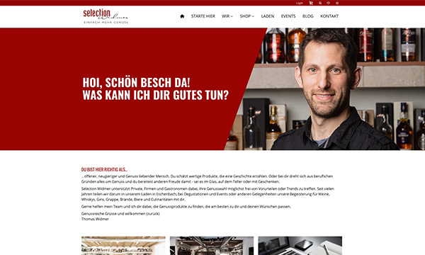 Webshop Selection Widmer