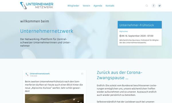 Internetauftritt unternehmernetzwerk.ch